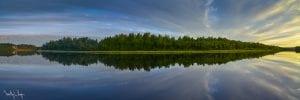 Midnight sun, Ivalo, Finland